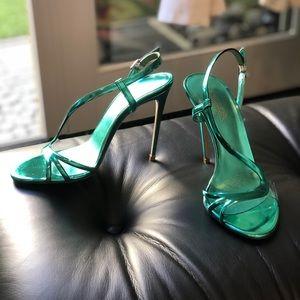 *Never been worn* Turquoise LeSilla stilettos.